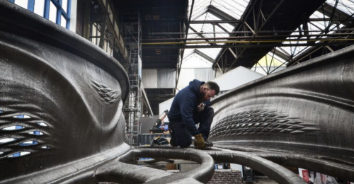 Ponte de aço impressa em 3D é destaque